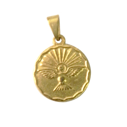 Medalha do Divino Espírito Santo Dourada - 1,5cm