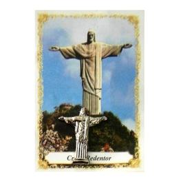 Imagem do Cristo Redentor de Bolso com Oração - 2cm