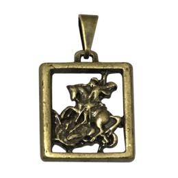 Medalha de São Jorge - Quadrada