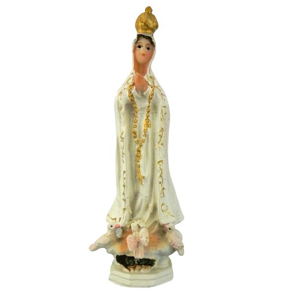 Imagem de Nossa Senhora de Fátima em Resina de 10cm