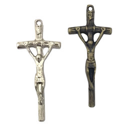 Crucifixo Vergado do Papa para Terços - 2,1cm x 4,4cm