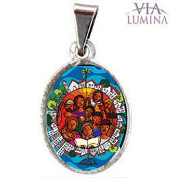 Medalha Pequena Ano do Laicato (Pacote c/ 50 unids.)