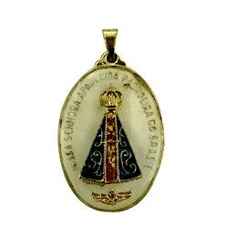 Medalha de Nossa Senhora Aparecida Resinada de 3cm