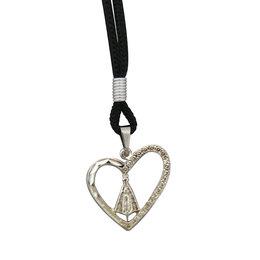 Medalha de Nossa Senhora Aparecida Coração com Cordão