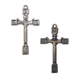 Crucifixo com Cristo Estilizado para Montagem de Terços (25 unidades)
