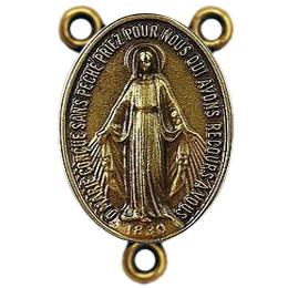 Entremeio de Nossa Senhora das Graças em Ouro Velho de 4cm
