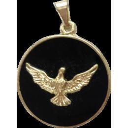 Medalha do Divino Espírito Santo Dourada de 2,5cm