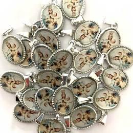 Medalha Pequena Prateada de Nossa Senhora Mãe de Deus - 25 unidades