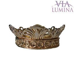 Coroa Folheada Aberta p/ Imagem de 50cm