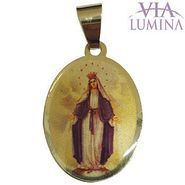 Medalha em Ouro Oval Borda Lisa - 22mm