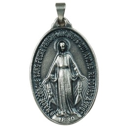 Medalha de Nossa Senhora das Graças - Prata Velha