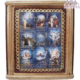 Quadro com a oração do Creio - 34,5cm