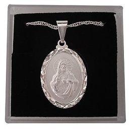 Medalha Folheada de Sagrado Coração de Jesus - 25mm