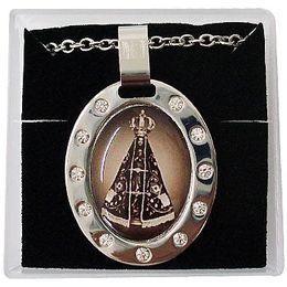 Corrente e Medalha em Aço Inox - Nossa Senhora Aparecida