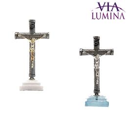 Crucifixo com Base em Resina - 12 cm