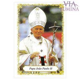 Papa João Paulo II - Pacote c/ 100 Santinhos de Papel