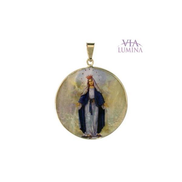Medalha em Madrepérola e Ouro Redonda