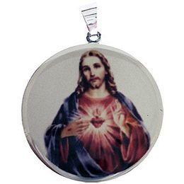 Medalha em Ouro Branco Redonda Borda Lisa