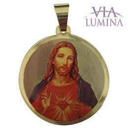 Medalha em Ouro Redonda Borda Lisa 23mm