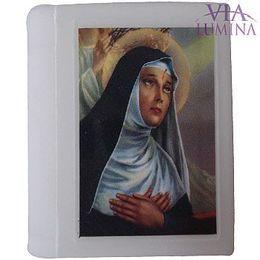 Caixa Bíblia Branca com Terço Prateado - Pérola Branca