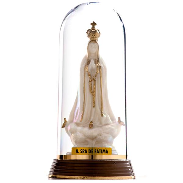 Nossa Senhora de Fátima - Plástica com Redoma