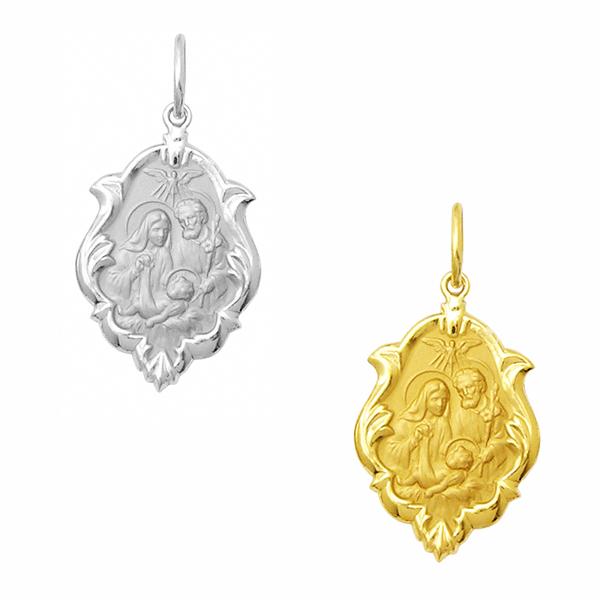 Medalha em Ouro da Sagrada Família - Ornato