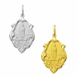 Medalha de Nossa Senhora de Fátima em Ouro - Ornato