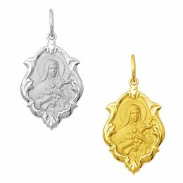 Medalha de Santa Terezinha em Ouro - Ornato