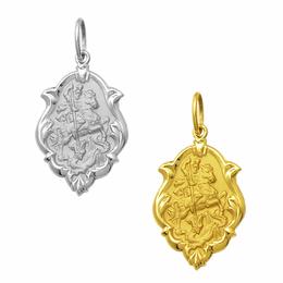 Medalha em Ouro de São Jorge - Ornato