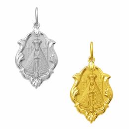 Medalha em Ouro de Nossa Senhora Aparecida - Ornato