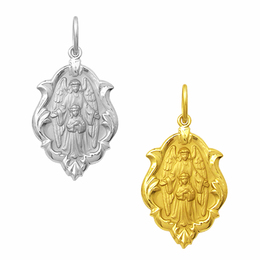 Medalha do Anjo da Guarda em Ouro - Ornato