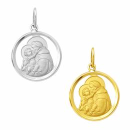 Medalha em Ouro de Santo Antônio - Vazada