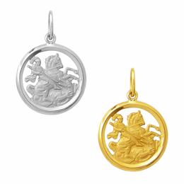 Medalha em Ouro de São Jorge - Vazada