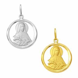 Medalha de Santa Terezinha em Ouro - Vazada