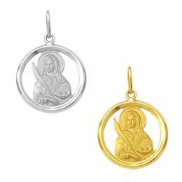 Medalha em Ouro de Santa Luzia - Vazada