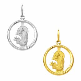 Medalha de São Francisco em Ouro - Vazada