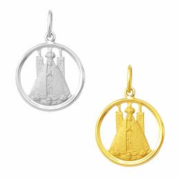 Medalha de Nossa Senhora Aparecida em Ouro - Vazada