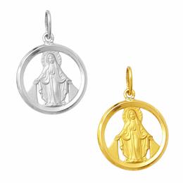 Medalha em Ouro de Nossa Senhora das Graças - Vazada