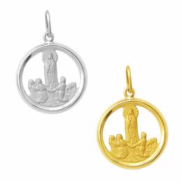 Medalha em Ouro de Nossa Senhora de Fátima - Vazada