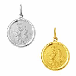Medalha em Ouro de Batismo - Redonda