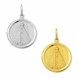 Medalha de Nossa Senhora Aparecida em Ouro - Redonda