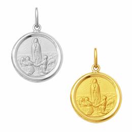Medalha em Ouro de Nossa Senhora de Fátima - Redonda