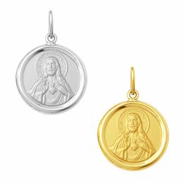 Medalha em Ouro do Sagrado Coração de Jesus - Redonda