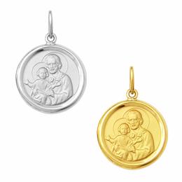 Medalha em Ouro de São José - Redonda