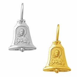 Medalha em Ouro do Sagrado Coração de Jesus - Sino