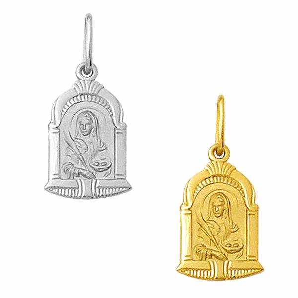 Medalha em Ouro de Santa Luzia - Capela