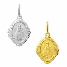 Medalha de Nossa Senhora Aparecida em Ouro - Losango
