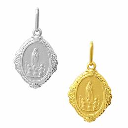 Medalha em Ouro de Nossa Senhora de Fátima - Losango