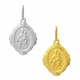 Medalha em Ouro de Nossa Senhora do Carmo - Losango
