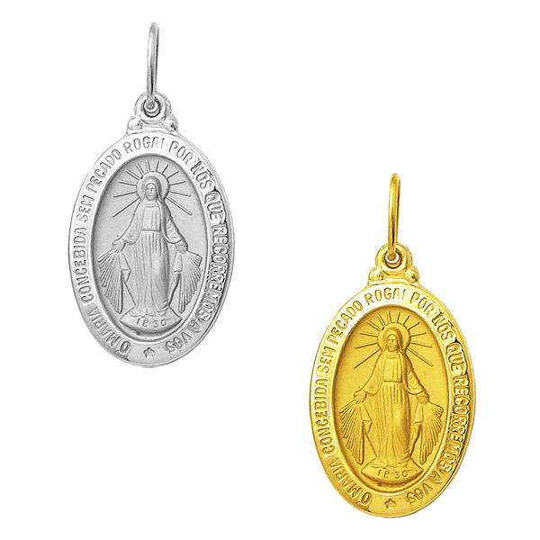 Medalha Milagrosa em Ouro - Nossa Senhora das Graças